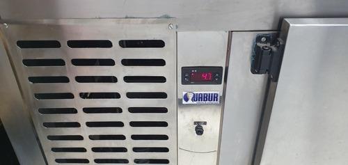 balcão inox refrigerador vidro curvo com 14 cubas