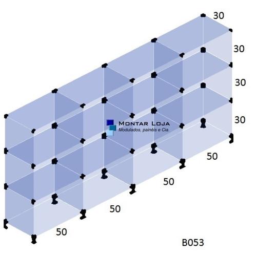 balcão modulado atendimento de vidro 2,00 x 1,00 x 0,30 b053