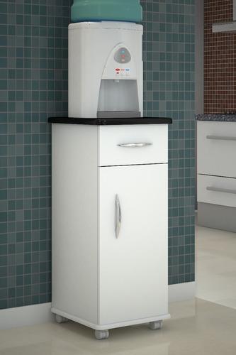 balcão multiuso água cozinha branco tampo preto madeira