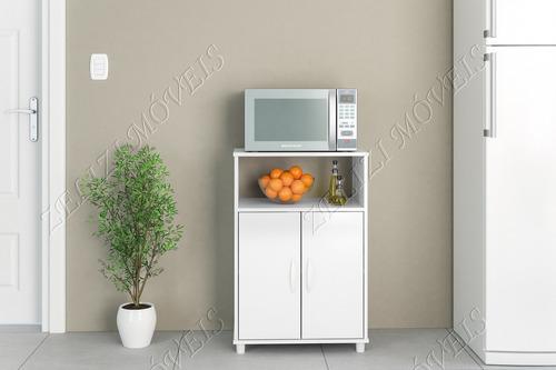 balcão para cozinha 2 portas diadema branco politorno