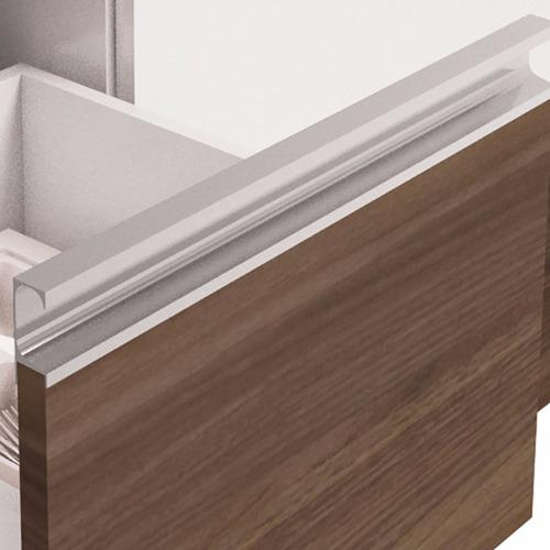 balcão para pia 180 cm gavetão branco/castanho prisma mgm