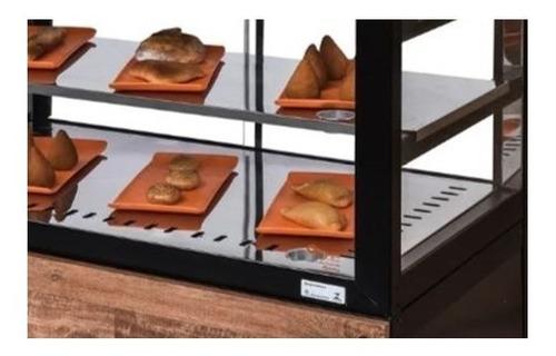 balcão salgados omega - vitrine aquecida  luxo c/ iluminação