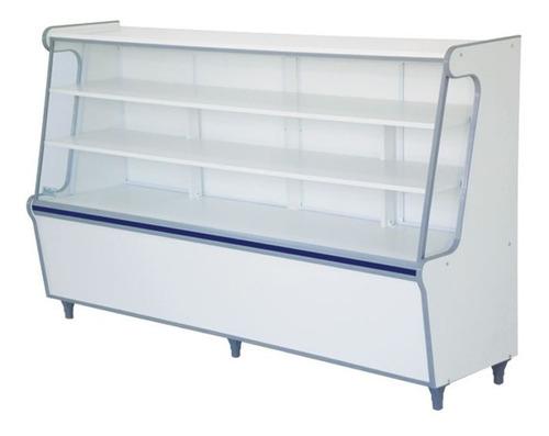 balcão seco expositor de produtos com vidro frontal -1,80m