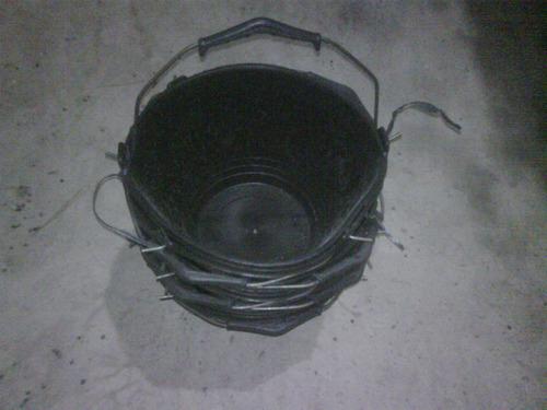 balde albañil plasticos reforzado