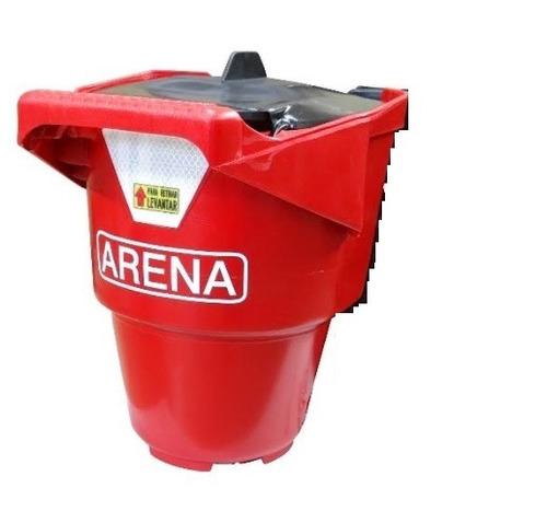 balde arena incendio georgia de plástico con tapa y soporte