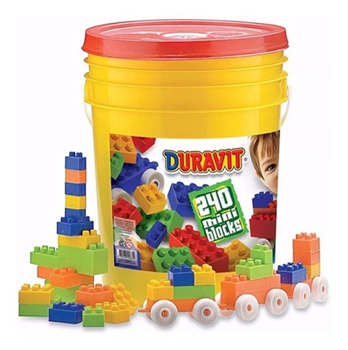 balde bloques ladrillos duravit 240 piezas juegos juguetes