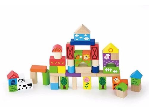 balde bloques viga encastre 50 piezas construccion mvd kids