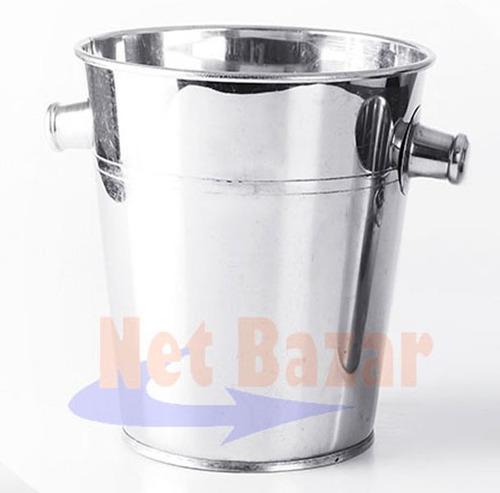 balde champagne hielo acero frapera champan metal bar bazar