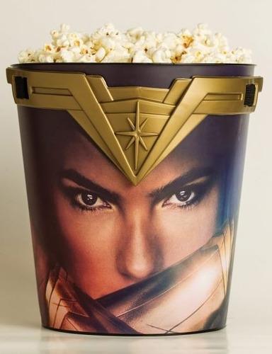 balde com tiara da mulher maravilha cinemark 3l wonder woman