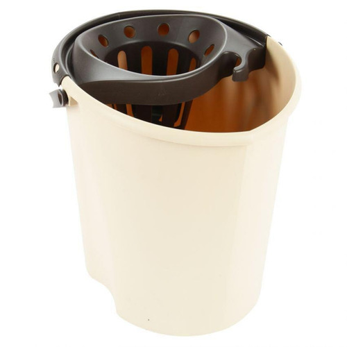 balde con escurridor tatay 1103336- beige con café
