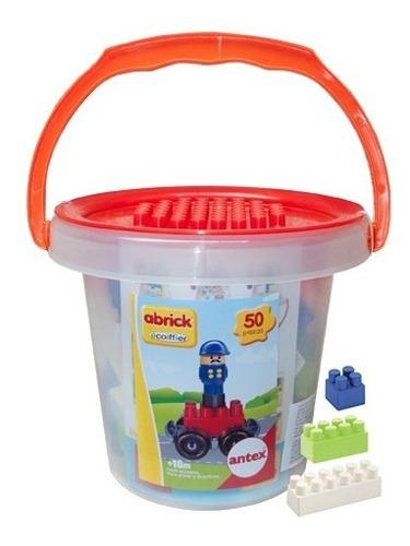 balde de bloques base auto y muñeco 50 piezas antex cadia