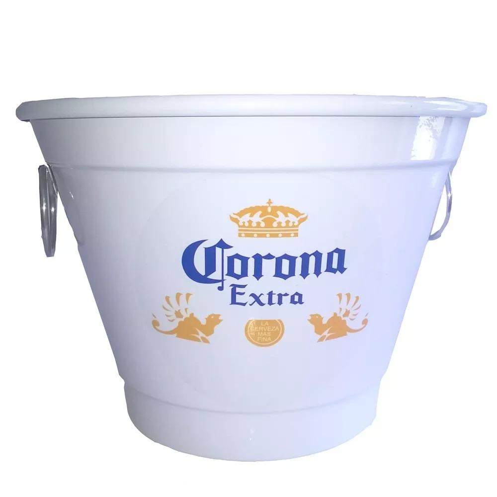Balde De Gelo Alumínio 7 L Corona - Branco - Kit 05 Und. - R  172 668b97e92a21d