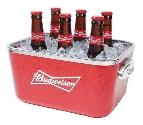 balde de gelo budweiser 5 litros com alça para 6 long necks