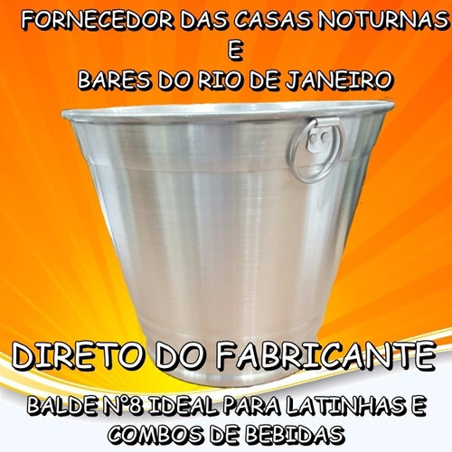 balde de gelo  c/argola n°8 litros