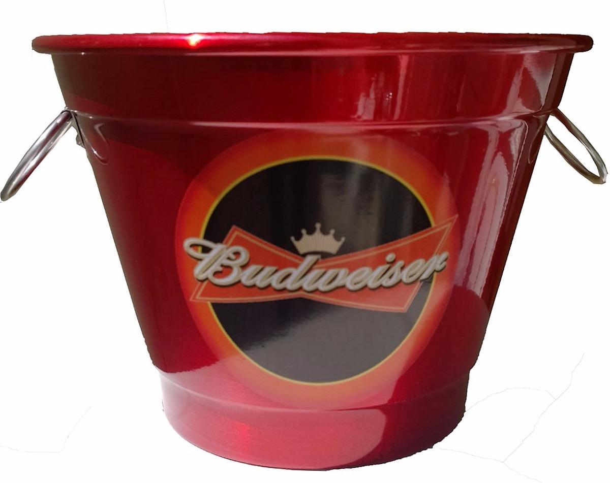 balde de gelo em alumínio 7 litros cerveja budweiser. Carregando zoom. ad6f093d46fcd