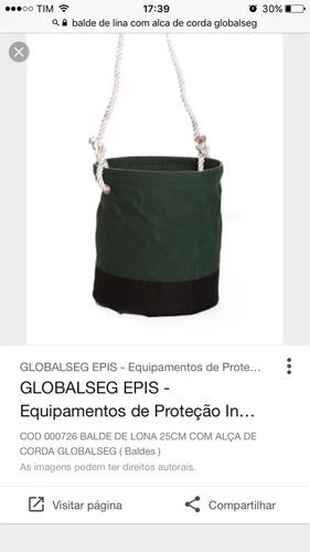 balde de lona com alça de corda globalseg epi's