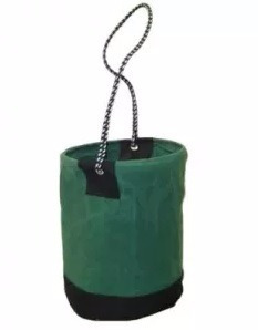 balde de lona verde para ferramentas fibra temos epi