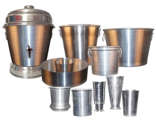 balde em aluminio para cerveja - g liso