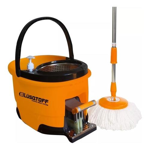 balde escurridor limpiador centrifugo c/pedal 2 mopas cuotas