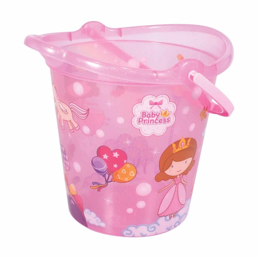 12200ed480 balde infantil decora 8 litros baby princess rosa - plasútil. Carregando  zoom.
