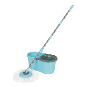 Balde Mop Esfregão Limpeza Prática 1 Balde 1 Cabo 1 Esfregão
