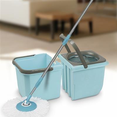 balde mop premium centrifugador com esfregão + 1 refil - mor