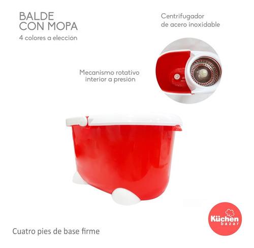 balde mopa centrífuga lampazo giratorio con 3 repuestos de microfibra ultra absorbente trapeador para pisos con ruedas