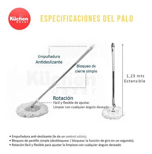 balde mopa centrífuga lampazo giratorio con 4 repuestos de microfibra ultra absorbente trapeador para pisos con ruedas