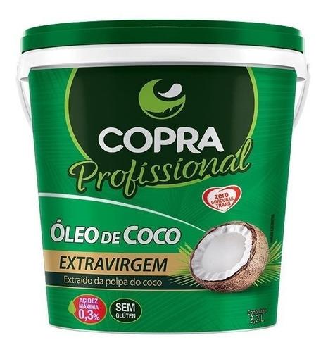 balde óleo de coco extra-virgem 3,2l copra - frete expresso