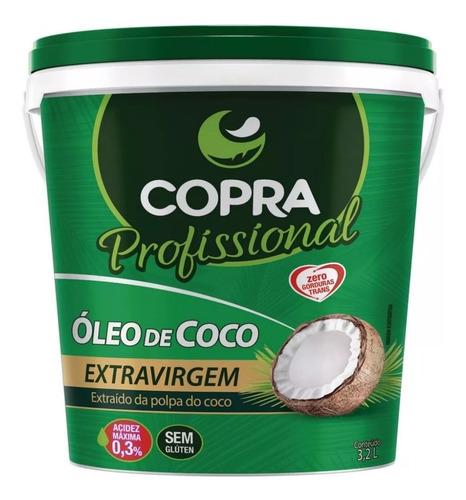 balde óleo de coco extra virgem - 3,2litros - copra - oferta