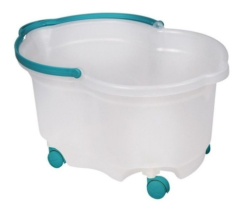 balde ovalado con rueda y manija 20 l limpieza san remo