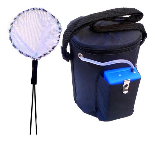 balde porta carnada aireador copo pesca pejerrey mojarras