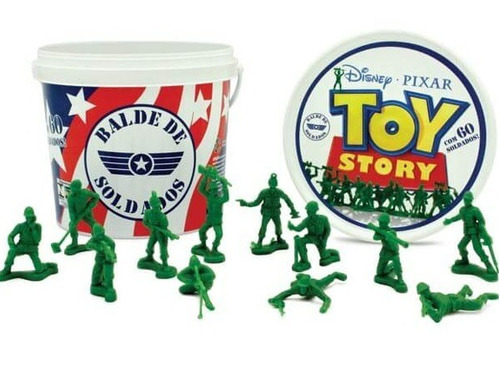 balde soldadinho toy story disney 60peças brinquedo original