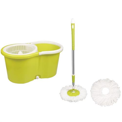 balde spin mop 360 centrifuga + 2 refis e cabo trevalla