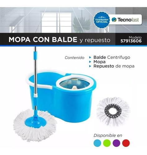 balde trapeador centrifugado acero inox 5lts mopa