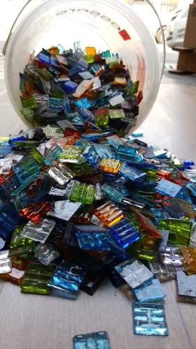 balde venecitas vitro traslucidas mosaiquismo 4,5 kg murvi