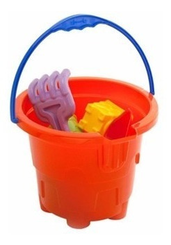baldinho de praia 9 pçs plástico brinquedo p/ criança