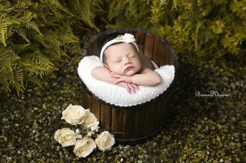 baldinho envelhecido prop foto newborn acompanhamento bebê