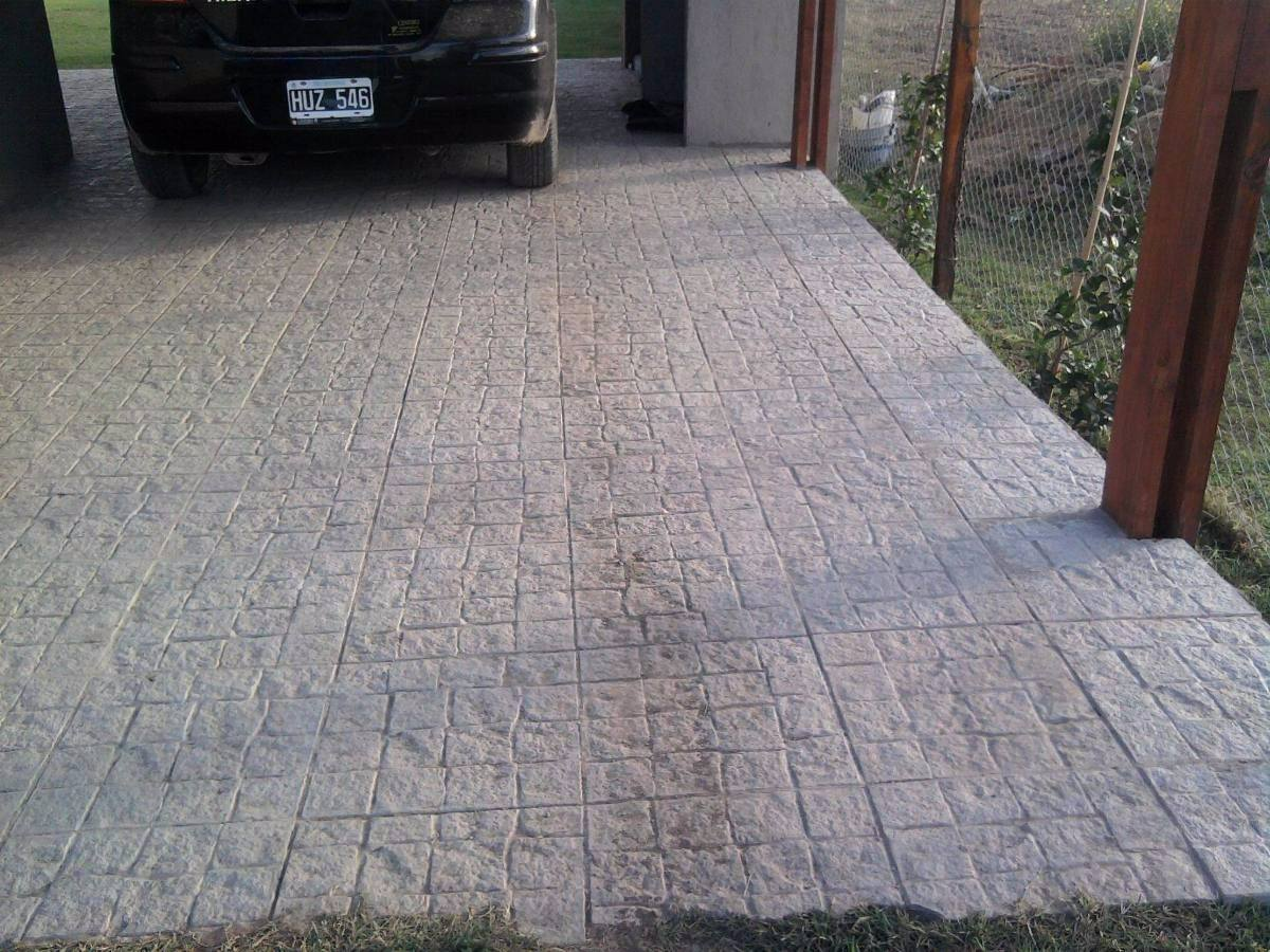 Baldosa para patio y vereda de hormigon exteriores 220 00 en mercado libre - Baldosas para exterior ...