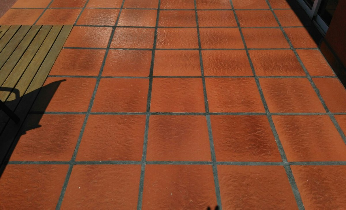 Baldosa patio interior exterior loimar curada fuego 35x35 for Rellenar juntas baldosas exterior