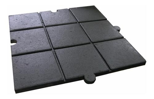 baldosa piso en caucho para gimnasio tapete alto impacto 2cm