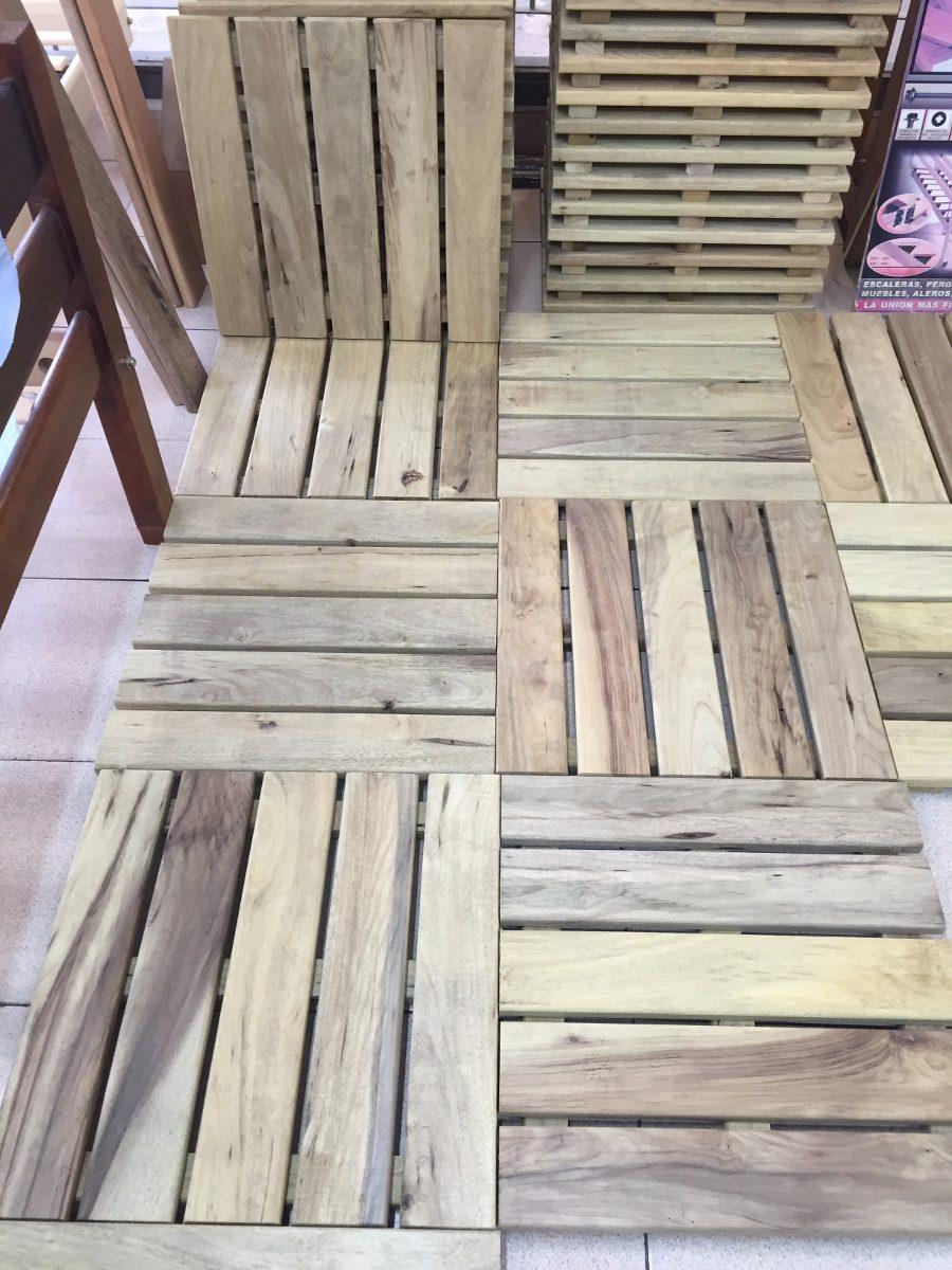 Baldosa madera exterior exterior pared de madera como baldosas de cermica montaje baldosas - Baldosas para exterior ...