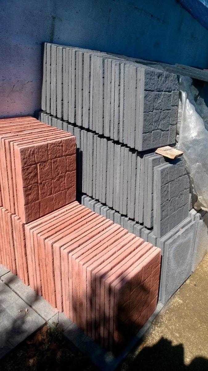 Baldosas de exterior baldosas rusticas adoqun recto grande m baldosa granito flameado - Baldosa madera exterior ...