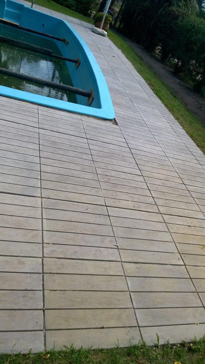Baldosas exterior simil madera 420 00 en mercado libre - Baldosa madera exterior ...