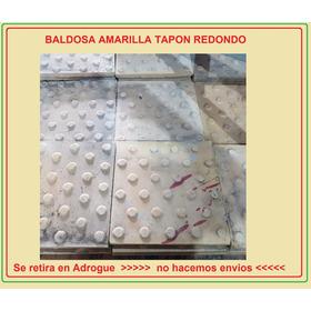 Baldoson Amarillo Tapones Redondos 30x30 (por Unidad)