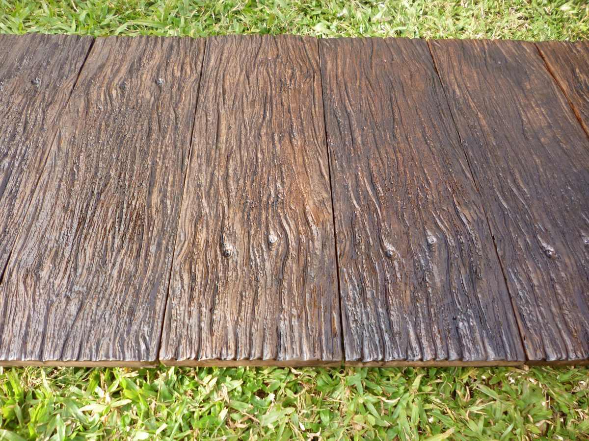 Baldosones de hormigon imitacion madera 55 00 en - Hormigon imitacion madera ...