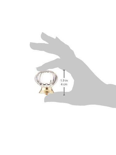 baldwin estate 4328030 perilla del gabinete de cristal en
