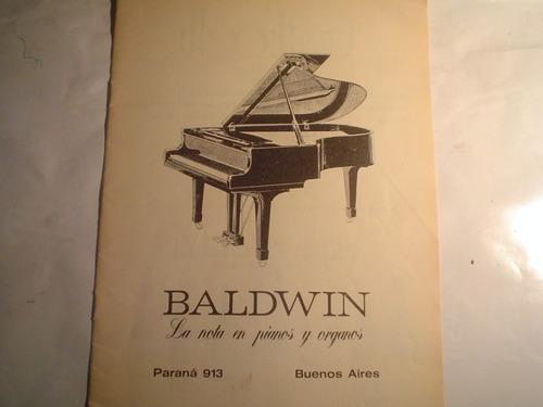 baldwin piano organo publicidad 1977