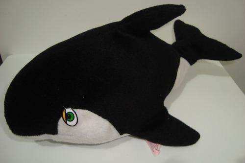 baleia orca pelúcia baby brink +- 27cm usada