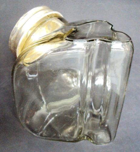 baleiro (s) antigo scavone de vidro tampa em metal alumínio